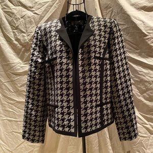 Kasper Houndstooth Dressy Blazer - Size 14P